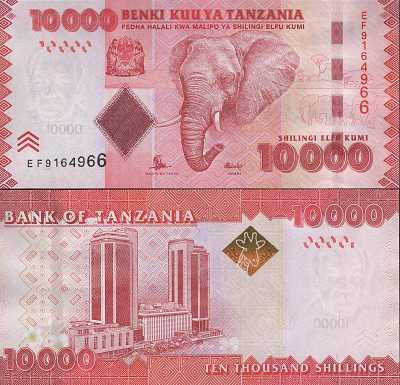 2011 TANZANIA  5000  SHILINGI 2010 P 43a  Uncirculated  Prefix BW