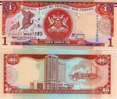 TRINIDAD /& TOBAGO 1 DOLLAR 2006 P 41 UNC LOT 5 PCS