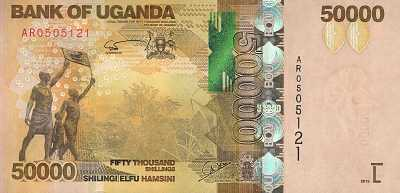 UGANDA 50000 SHILLINGS 2015 P-54c UNC