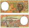 Central African States bank note - click to enlarge